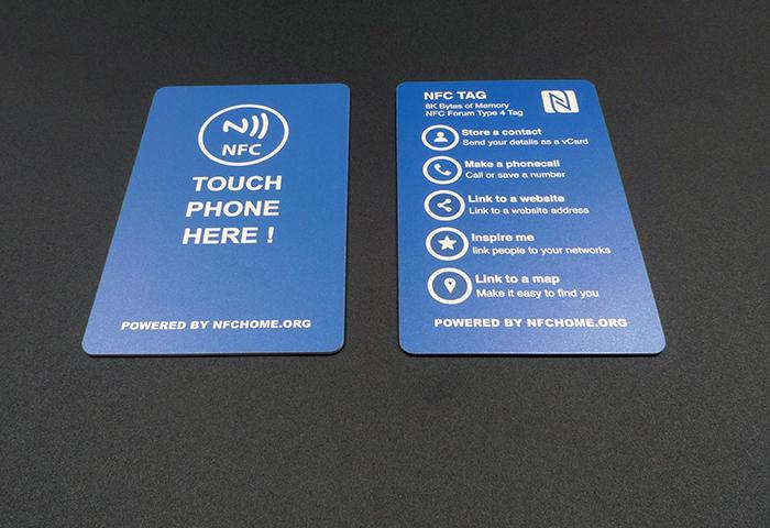 8000字节NFC名片正反面